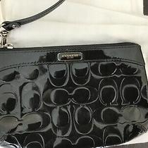 Authentic Coach Black Patent Wristlet Clutch  Photo