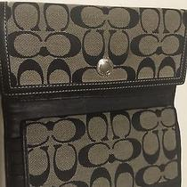 Authentic Coach Black Wallet and Check Book Photo