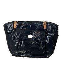 Authentic Coach Blue & Beige Handbag Purse  Photo