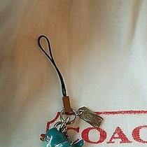 Authentic Coach Blue Bird Purse Charm With Crystal Eyes & Dust Bag New Photo