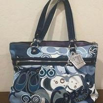 Authentic Coach Blue Poppy Collection Tote Bag Photo