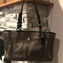 Authentic Coach Bronze Leather Tote Bag Purse  Photo