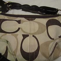 Authentic Coach Brown Cream Hobo Bag/ Tonal Purse  Photo