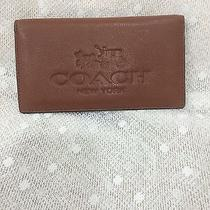 Authentic Coach Brown Leather Check Book Cover Wallet Nwot Photo