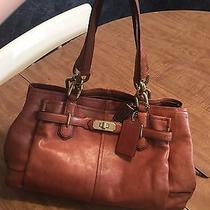 Authentic Coach Brown Leather Handbag Photo