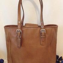 Authentic  Coach Brown Leather  Satchel Bag 7599 Photo