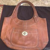 Authentic Coach Brown Leather Shoulder Never Used Photo