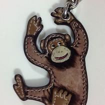 Authentic Coach Brown Monkey Key Fob Photo