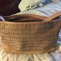 Authentic Coach Brown Signature Brown Purse Photo