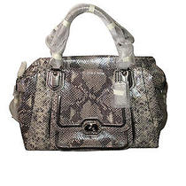 Authentic Coach Campbell Exotic Leather Large Satchel Itemf26041 Photo