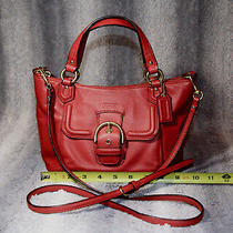 Authentic Coach Campbell Leather Mini Tote Crossbody Red Photo