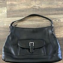 Authentic Coach Charlie Smooth Leather Hobo Black Photo