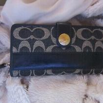 Authentic Coach  Co842-41716 Wallet  Blue  Must See the Pictures  Photo