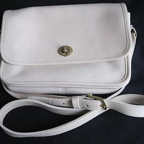 Authentic Coach Cream Genuine Leather Women Shoulder Handbag Photo
