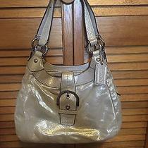 Authentic Coach F15075 Lynn Soho Champagne Metallic Leather Shoulder Bag Photo