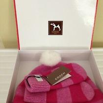 Authentic Coach Girls Hat and Mitten Set in Beautiful Presentation Gift Box Photo