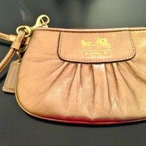 Authentic Coach Gold Wristlet Photo
