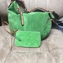 Authentic Coach Green Handbag W/ Wristlet Photo