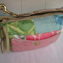 Authentic Coach Hamptons Weekend Signature C Pastel Patchwork Hobo Purse 374 Photo