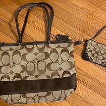 Authentic Coach Handbag and Wallet Wristlet Preowned Photo