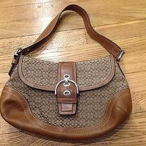 Authentic Coach Handbag Purse - Brown With Brown Leather - Very Trendy Photo