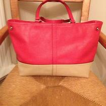 Authentic Coach Handbags Nwt Hampton Med Tote Coral/sand Photo