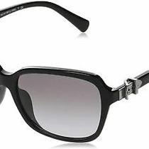 Authentic Coach Hc8179f - 500211 Sunglasses Black W/ Light Grey  New 58 Mm Photo