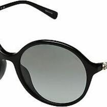 Authentic Coach Hc8188b F - 500211 Sunglasses Black W/ Grey Gradient New 55 Mm Photo