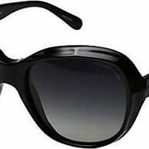 Authentic Coach Hc8197 - 5002t3 Sunglasses Black W/ Grey Polarized New 55 Mm Photo