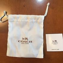 Authentic Coach Jewelry Dust Bag New Free Ship Photo