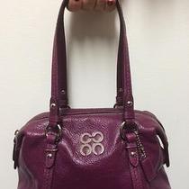 Authentic Coach Julia Leather Satchel Handbag in Berry Photo