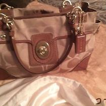 Authentic Coach  Khaki/nutmeg Sateen Peyton Carryall Satchel (Coach M14507)  Photo