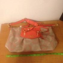 Authentic Coach Khaki/tearose Satchel Photo