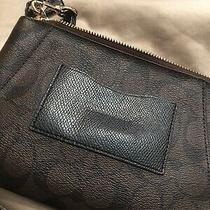 Authentic Coach Large Wristlet Brown Signature Fits Iphone Plus Sizes  Photo