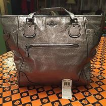 Authentic  Coach Leather Gray Micke Tote Retails 495 .. Photo