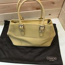 Authentic Coach Leather Purse Handle With Bag Photo