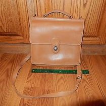 Authentic Coach Leather Satchel Brown Used Photo