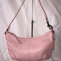 Authentic Coach Leather Wrist Bag/handbag/purse Baby Pink Creed  No A053-4283  Photo