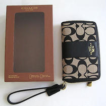 Authentic Coach Legacy Signature Monogrammed Iphone 5s Zippered Wallet Mint Nib  Photo