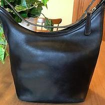 Authentic Coach Legacy West Bucket Hobo Tote 9823 Black Leather Photo