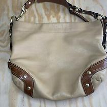 Authentic Coach Light Tan Leather Tote Shoulder Bag Large Purse Great Condition Photo