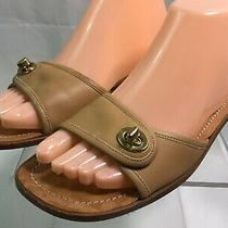 Authentic Coach Lois Saddle Leather Sandals Brown Sz. 8.5 B Style A8160 Photo