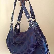 Authentic Coach Madison Maggie Op Art Hobo Bag Purse 21125m Black - Rare Photo