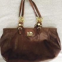 Authentic  Coach Mahogany Brown Leather Mia Tote Bag   G1082-15740 Photo