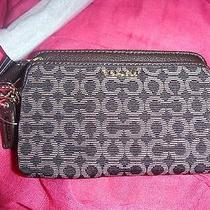 Authentic Coach Mahogany Wristlet Wallet New With Tags New With Tags  Photo