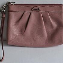 Authentic Coach Mauve Pink Wristlet Wallet Small Leather Bag Photo