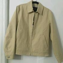 Authentic Coach Men Beige Bomber Jacket Photo