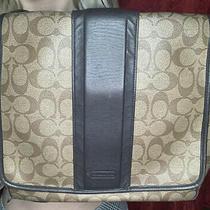 Authentic Coach Monogram Metropolitan Messenger Bag Photo