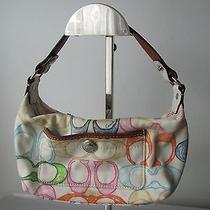 Authentic Coach Multi Color Signature Mini Satchel Bag Photo