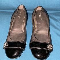 Authentic Coach New York Chelsey Ballet Flats Black Size 6 Photo